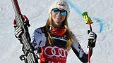 Super-G de St-Moritz: Shiffrin s'impose encore, Miradoli sort