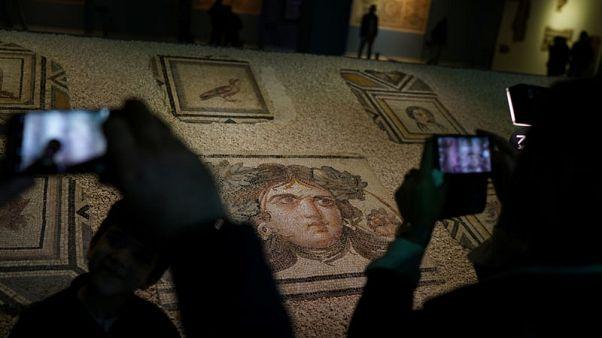 Plundered 'Gypsy Girl' mosaics back in Turkey after decades in U.S.