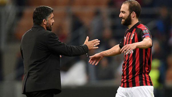 Milan focussed on Champions League spot not Inter - Gattuso