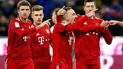 Bayern cruise past Nuremberg 3-0 to continue rise