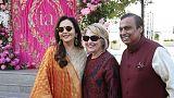 وصول شخصيات بارزة لحضور احتفالات تسبق زفاف ابنة أغنى رجل في الهند