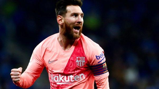 Messi show nel derby di Barcellona,è 0-4
