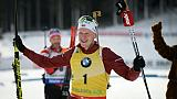 Biathlon: coup double pour Boe devant Fillon-Maillet, Fourcade ne finit pas à Pokljuka