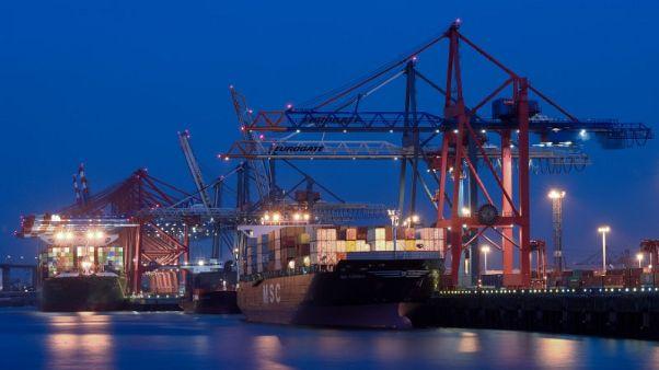 German October trade surplus narrows in 'lost year' for exporters