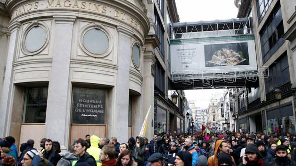 French 'yellow vest' protests curb Printemps sales by 25-30 percent