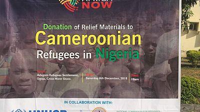 Les refugiés camerounais au Nigeria reçoivent des cadeaux de Noël en soutient humanitaire de la fondation Africa Now