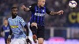 Inter midfielders Vecino, Nainggolan set to miss PSV match