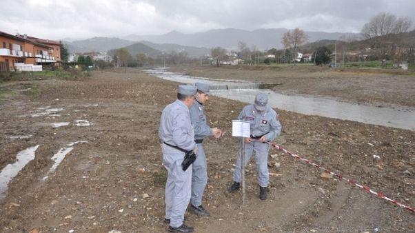 Danni per lavori, sequestro tratto fiume