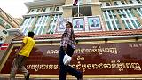 Cambodia union leaders convicted over protests, jail terms suspended
