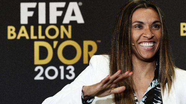 Marta nella Hall of Fame del Maracanà