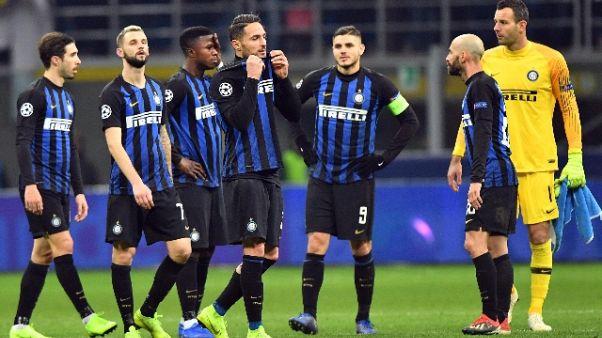 Champions:Inter eliminata, 1-1 con Psv