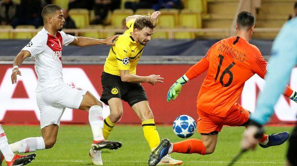 Guerreiro double give Dortmund 2-0 win over Monaco