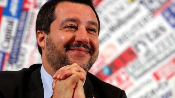 Italy's Salvini changes tack on EU in bid for centre ground