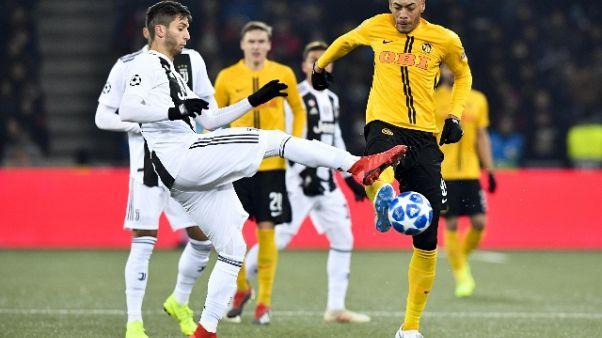 Champions: Young Boys-Juventus 2-1
