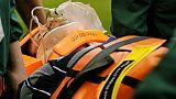 Un joueur blessé évacué sur civière