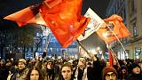 Hungarian protests intensify as Orban heads to Brussels