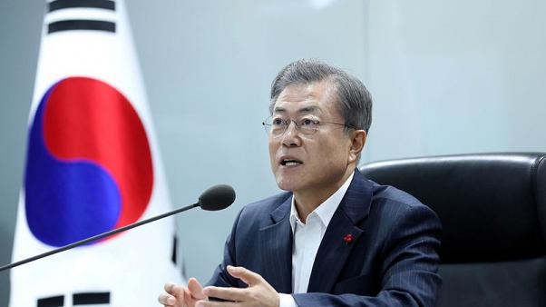 South Korea's Moon calls for 'restrained' language with Japan over wartime forced labour row