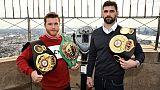"""Boxe WBA super-moyens: Canelo Alvarez a pris des kilos pour """"entrer dans l'histoire"""""""