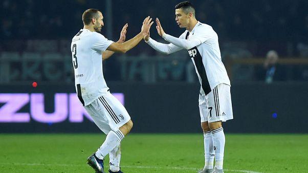 Ronaldo penalty wins Turin derby for relentless Juve
