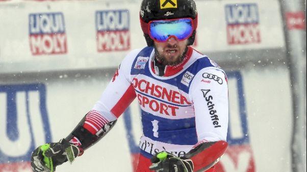 Sci: Cdm,Hirscher in testa in Alta Badia