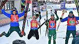 Biathlon: victoire des Italiennes au relais d'Hochfilzen