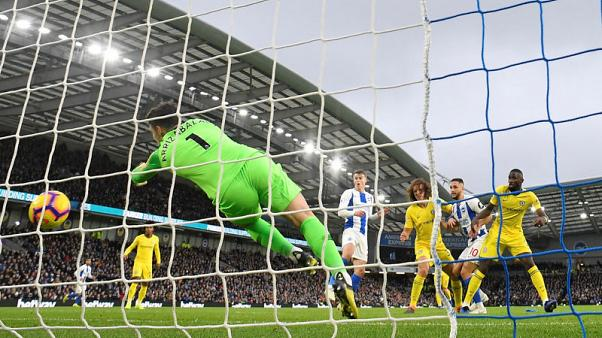Chelsea hold on against Brighton to consolidate top four spot
