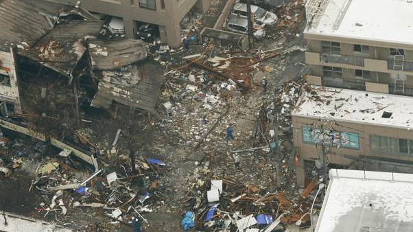 Police, firemen search for cause of explosion in Japan's Sapporo
