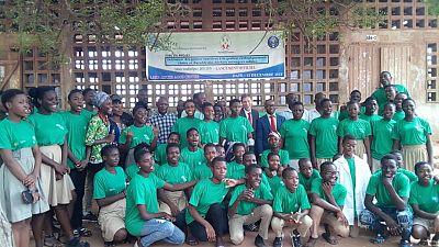 Cérémonie de lancement du Projet : l'Initiative pour éducation des jeunes à la gestion des déchets en milieu scolaire