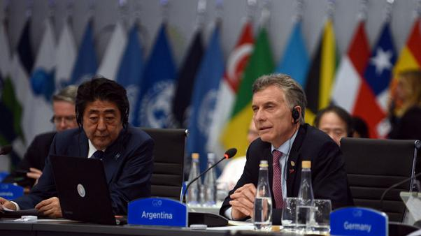 Japan urges G20 to settle global trade woes multilaterally