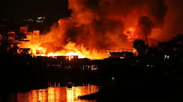 Fire engulfs 600 stilt homes in Brazil city Manaus; thousands flee