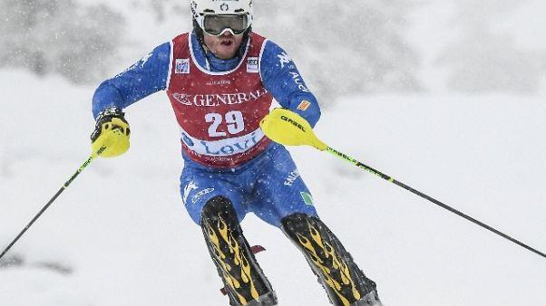 Sci: C.Europa,nello slalom guida Razzoli