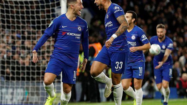 Hazard fires Chelsea into the League Cup semi-finals
