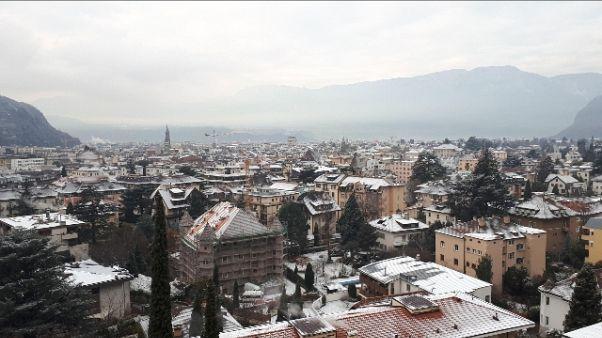 Prima spolverata di neve a Bolzano