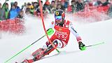 Ski: Hirscher en tête après la 1re manchedu slalom de Saalbach