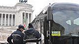 Protesta bus turistici, caos in centro