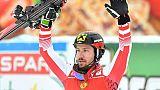 Ski: l'Autrichien Marcel Hirscher remporte le slalom de Saalbach