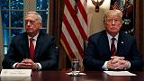 U.S. defence chief Mattis quits after clashing with Trump on policies