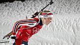 Biathlon: victoire d'Olsbu Roeiseland, Chevalier au pied du podium à Nove Mesto