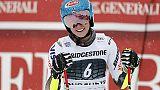 Sci: Shiffrin guida slalom Courchevel