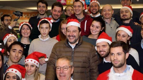 Salvini a Milano, al Buzzi e in Questura