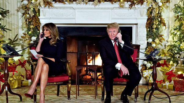 During gloomy Washington Christmas, Trump takes kids' Santa calls