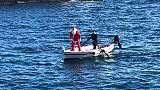 Babbo Natale arriva dal mare a Lipari