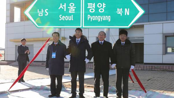 Koreas' bid to reconnect rail, road links clouded by sanctions issue