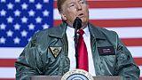 Donald Trump sur la base aérienne d'Al-Assad en Irak, le 26 décembre 2018