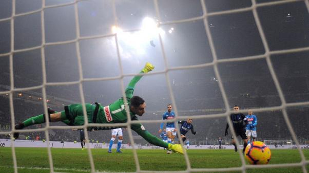 Napoli finish with nine in stoppage time defeat to Inter