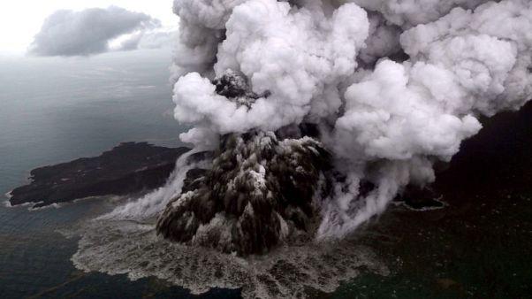 Indonesia reroutes all flights around erupting Anak Krakatau volcano