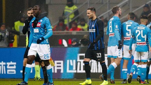 Procura Figc,Inter-Napoli andava sospesa