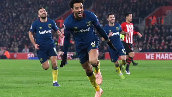 Anderson double gives West Ham 2-1 win at Southampton