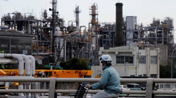 Japan factory output falls, sales slow as risks to economy rise