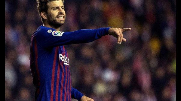 Calcio, Piquè pronto al ritiro nel 2020